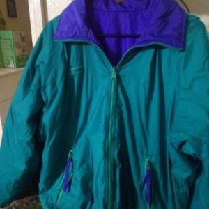 Vintage 90's Columbia Men's reversible jacket M